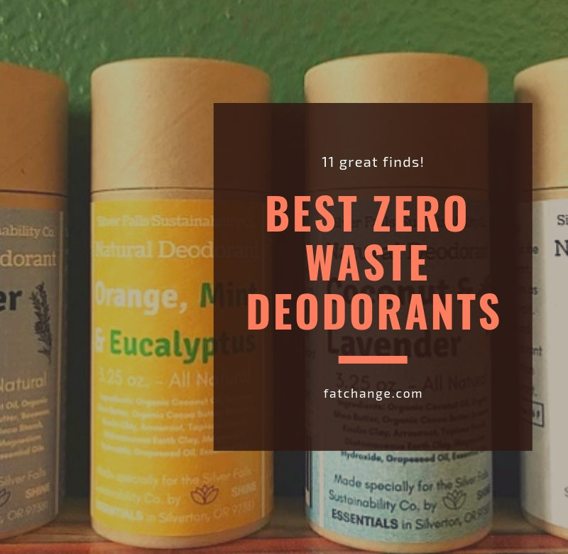 Best Zero Waste Deodorants - FAT CHANGE